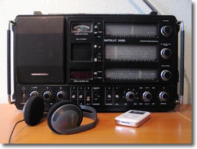 Altes Radio und iPod