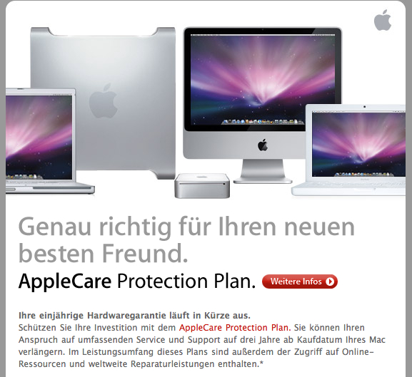 AppleCare Mail von Apple