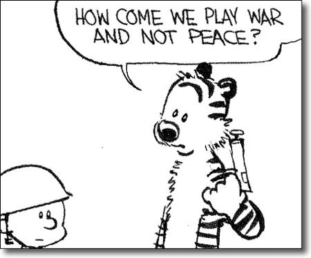 Calvin Hobbes War Game
