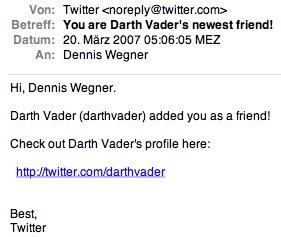 Vader Friend Twitter